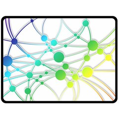 Network Connection Structure Knot Double Sided Fleece Blanket (Large)