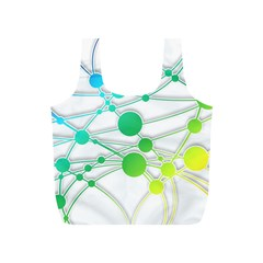 Network Connection Structure Knot Full Print Recycle Bags (S)