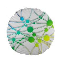 Network Connection Structure Knot Standard 15  Premium Flano Round Cushions