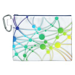 Network Connection Structure Knot Canvas Cosmetic Bag (XXL)