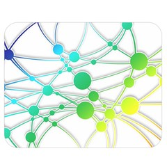 Network Connection Structure Knot Double Sided Flano Blanket (medium)