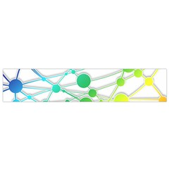 Network Connection Structure Knot Flano Scarf (Small)