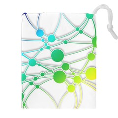 Network Connection Structure Knot Drawstring Pouches (xxl)