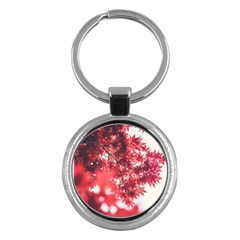 Maple Leaves Red Autumn Fall Key Chains (Round)