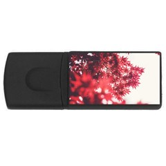 Maple Leaves Red Autumn Fall USB Flash Drive Rectangular (1 GB)
