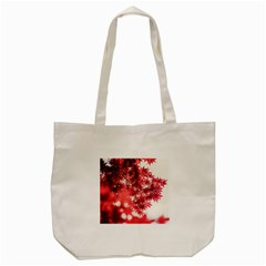 Maple Leaves Red Autumn Fall Tote Bag (cream)