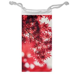 Maple Leaves Red Autumn Fall Jewelry Bag