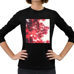 Maple Leaves Red Autumn Fall Women s Long Sleeve Dark T-Shirts