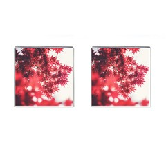 Maple Leaves Red Autumn Fall Cufflinks (square)