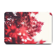 Maple Leaves Red Autumn Fall Small Doormat