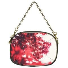 Maple Leaves Red Autumn Fall Chain Purses (One Side)