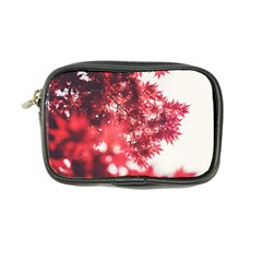Maple Leaves Red Autumn Fall Coin Purse