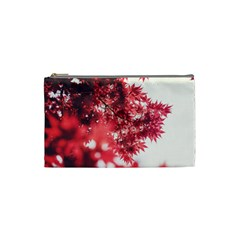 Maple Leaves Red Autumn Fall Cosmetic Bag (Small)