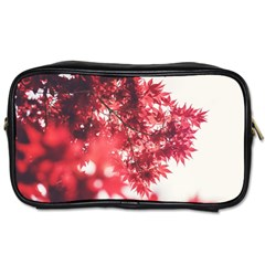 Maple Leaves Red Autumn Fall Toiletries Bags 2-Side