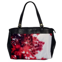 Maple Leaves Red Autumn Fall Office Handbags