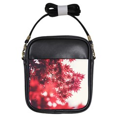 Maple Leaves Red Autumn Fall Girls Sling Bags