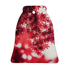 Maple Leaves Red Autumn Fall Bell Ornament (Two Sides)