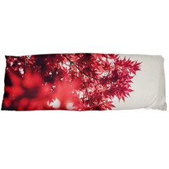 Maple Leaves Red Autumn Fall Body Pillow Case Dakimakura (two Sides)