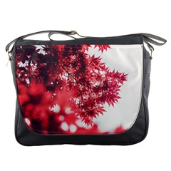 Maple Leaves Red Autumn Fall Messenger Bags