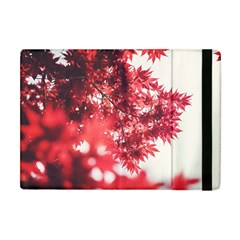Maple Leaves Red Autumn Fall Apple iPad Mini Flip Case