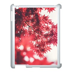 Maple Leaves Red Autumn Fall Apple iPad 3/4 Case (White)