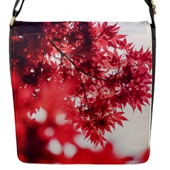 Maple Leaves Red Autumn Fall Flap Messenger Bag (S)