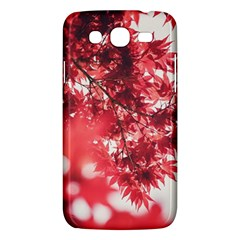 Maple Leaves Red Autumn Fall Samsung Galaxy Mega 5.8 I9152 Hardshell Case