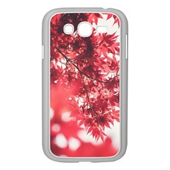 Maple Leaves Red Autumn Fall Samsung Galaxy Grand DUOS I9082 Case (White)