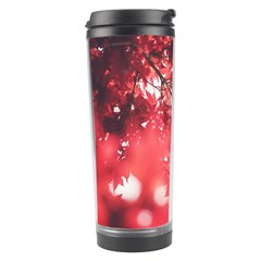 Maple Leaves Red Autumn Fall Travel Tumbler