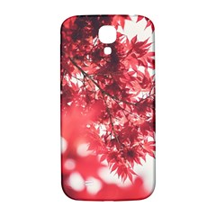 Maple Leaves Red Autumn Fall Samsung Galaxy S4 I9500/i9505  Hardshell Back Case