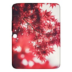 Maple Leaves Red Autumn Fall Samsung Galaxy Tab 3 (10.1 ) P5200 Hardshell Case
