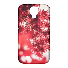 Maple Leaves Red Autumn Fall Samsung Galaxy S4 Classic Hardshell Case (PC+Silicone)