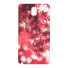 Maple Leaves Red Autumn Fall Samsung Galaxy Note 3 N9005 Hardshell Back Case