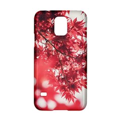 Maple Leaves Red Autumn Fall Samsung Galaxy S5 Hardshell Case