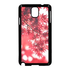 Maple Leaves Red Autumn Fall Samsung Galaxy Note 3 Neo Hardshell Case (Black)