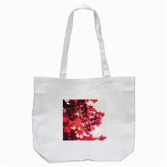 Maple Leaves Red Autumn Fall Tote Bag (White)