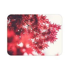 Maple Leaves Red Autumn Fall Double Sided Flano Blanket (Mini)