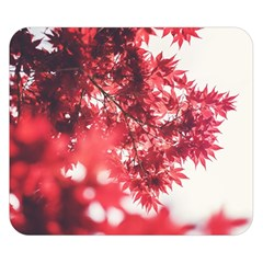 Maple Leaves Red Autumn Fall Double Sided Flano Blanket (Small)
