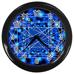 Network Connection Structure Knot Wall Clocks (Black)