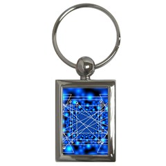 Network Connection Structure Knot Key Chains (Rectangle)
