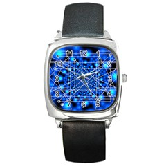 Network Connection Structure Knot Square Metal Watch