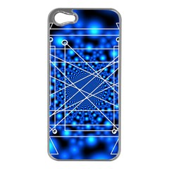 Network Connection Structure Knot Apple iPhone 5 Case (Silver)
