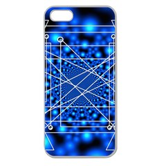 Network Connection Structure Knot Apple Seamless iPhone 5 Case (Clear)