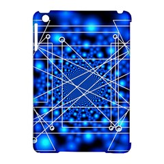 Network Connection Structure Knot Apple iPad Mini Hardshell Case (Compatible with Smart Cover)