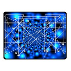 Network Connection Structure Knot Double Sided Fleece Blanket (small)