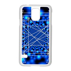 Network Connection Structure Knot Samsung Galaxy S5 Case (White)