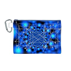 Network Connection Structure Knot Canvas Cosmetic Bag (M)