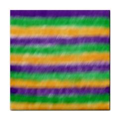 Mardi Gras Strip Tie Die Tile Coasters