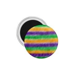 Mardi Gras Strip Tie Die 1.75  Magnets