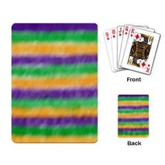 Mardi Gras Strip Tie Die Playing Card